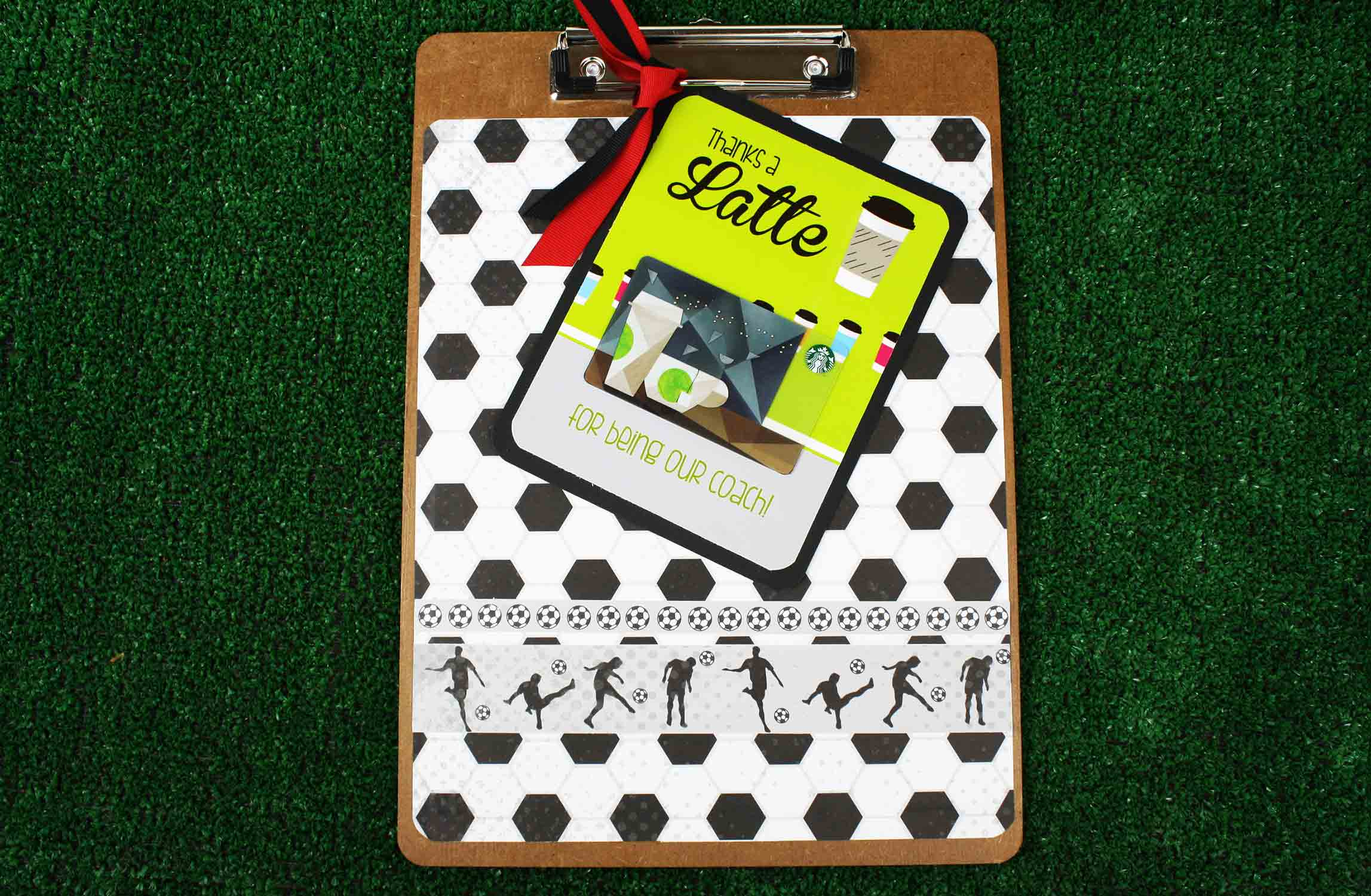 clipboard to hold Latte gift card