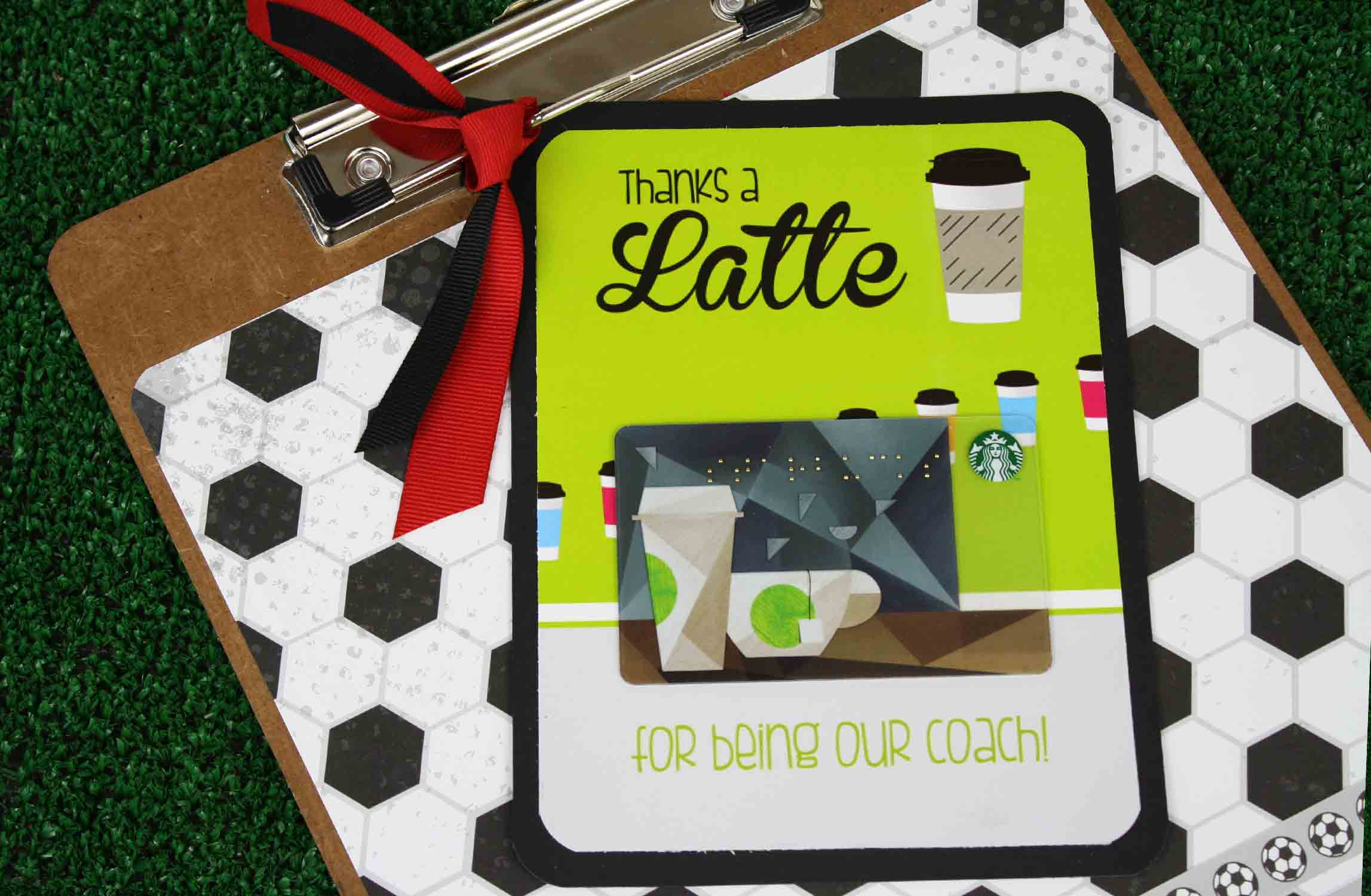 creative clipboard to hold gift card