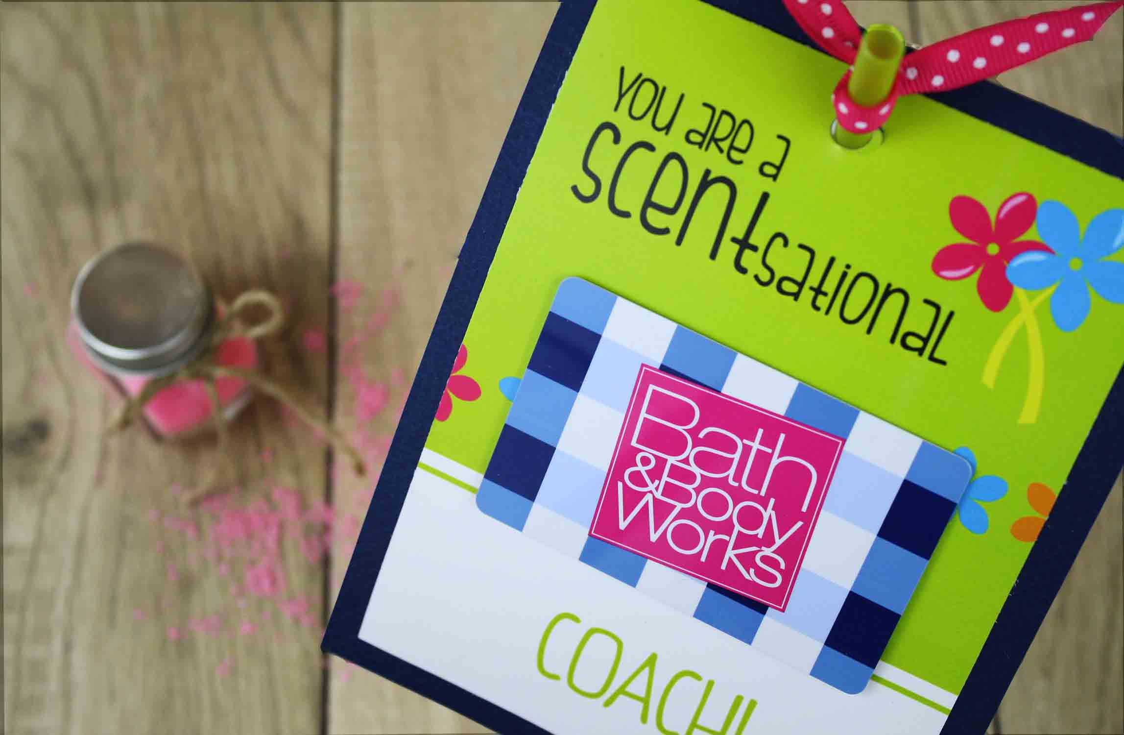 Fun gift card holder for coach