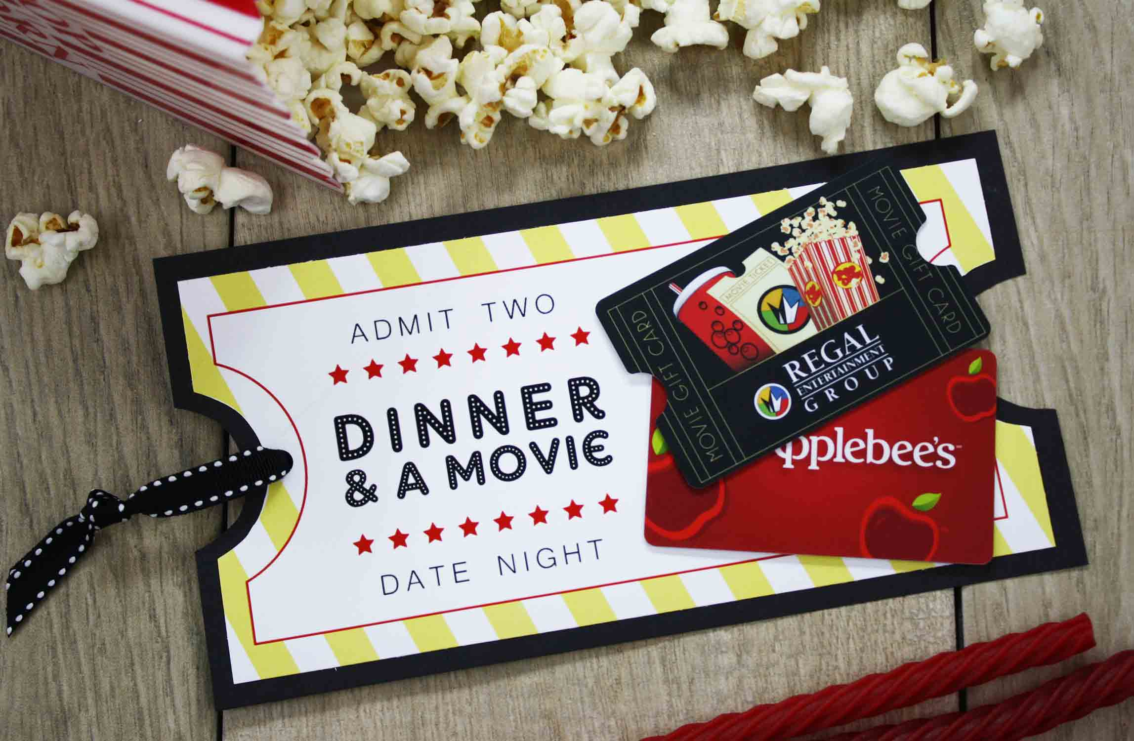 Free printable give date night for a wedding gift gcg restaurant and a movie gift card solutioingenieria Image collections