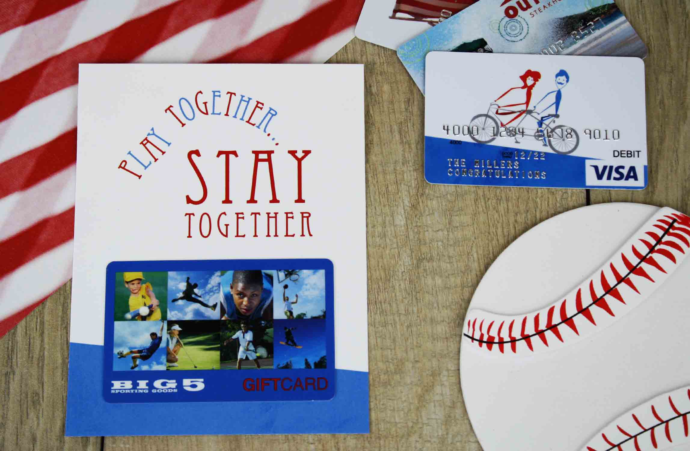 baseball theme wedding gift