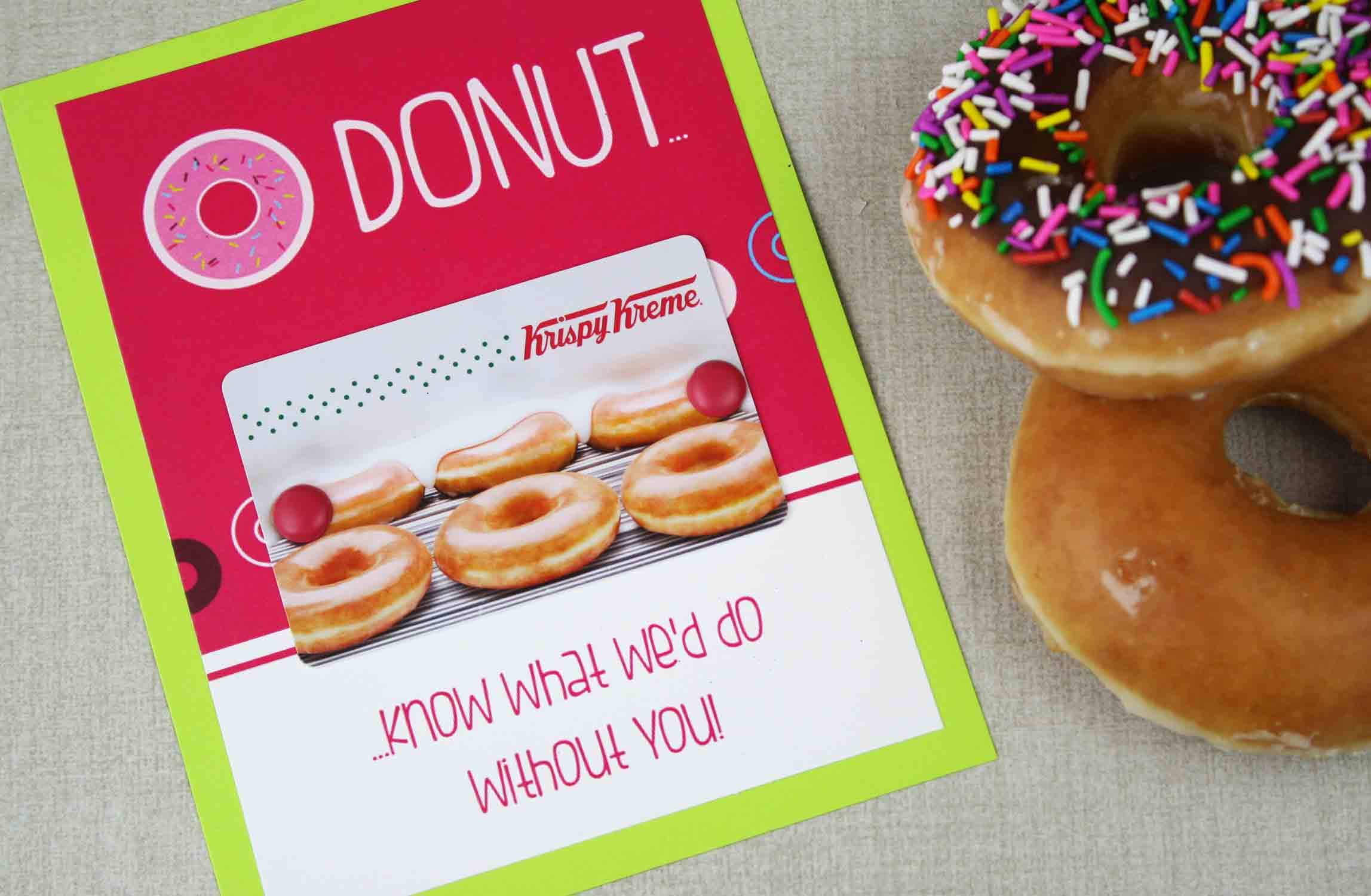 DONUT know what to do without you teacher gift card holder