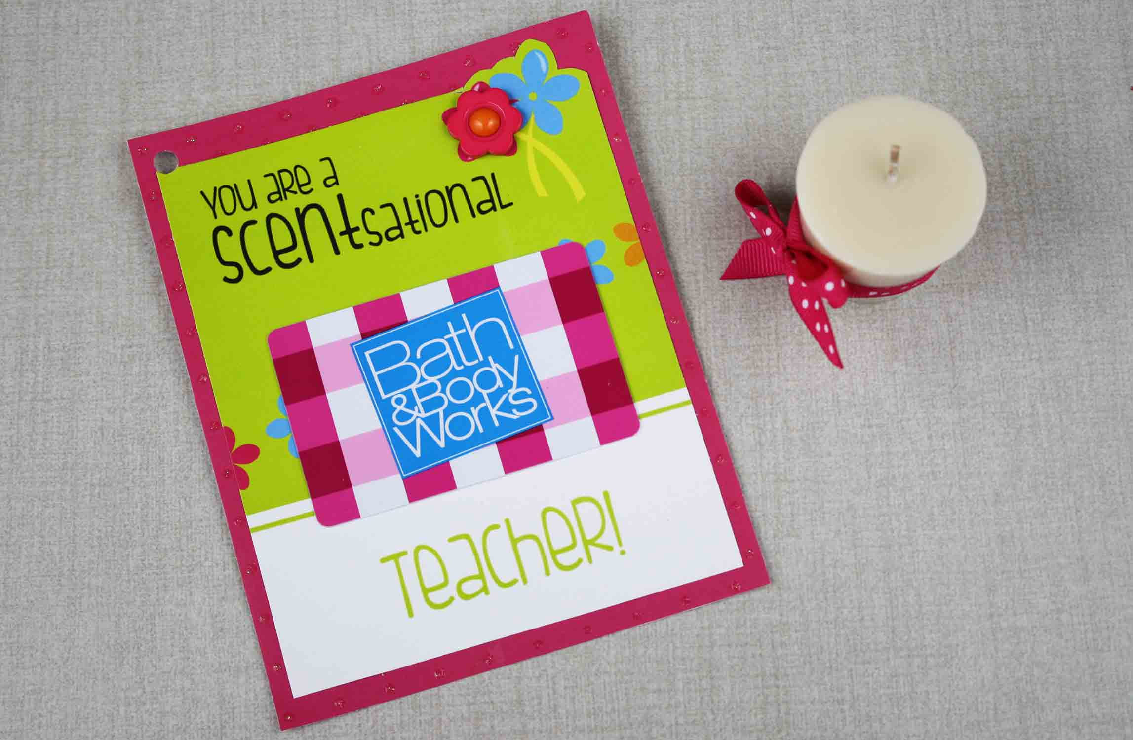 SCENTsational teacher gift card holder