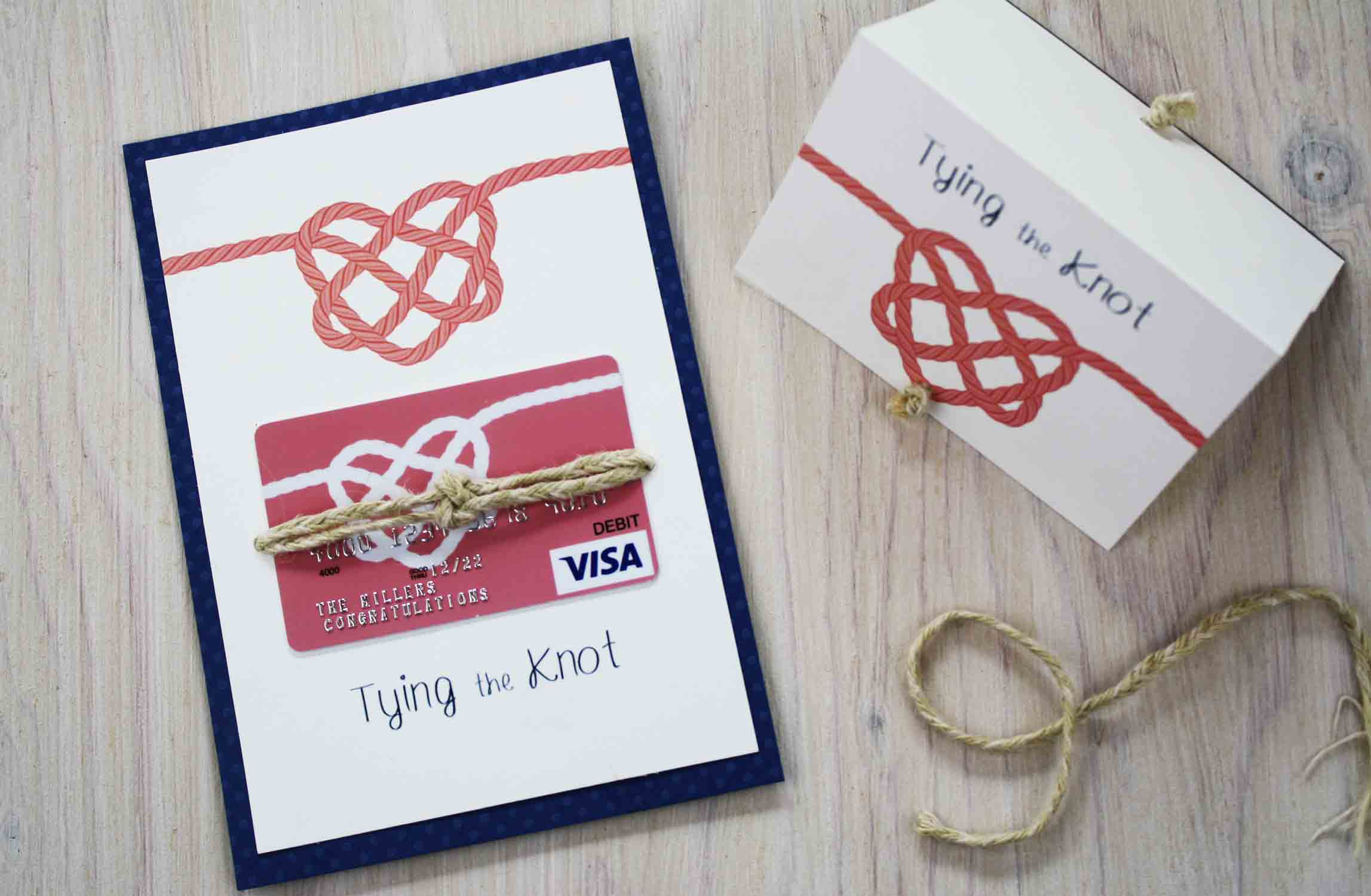 Tie the Knot Wedding gift card holder