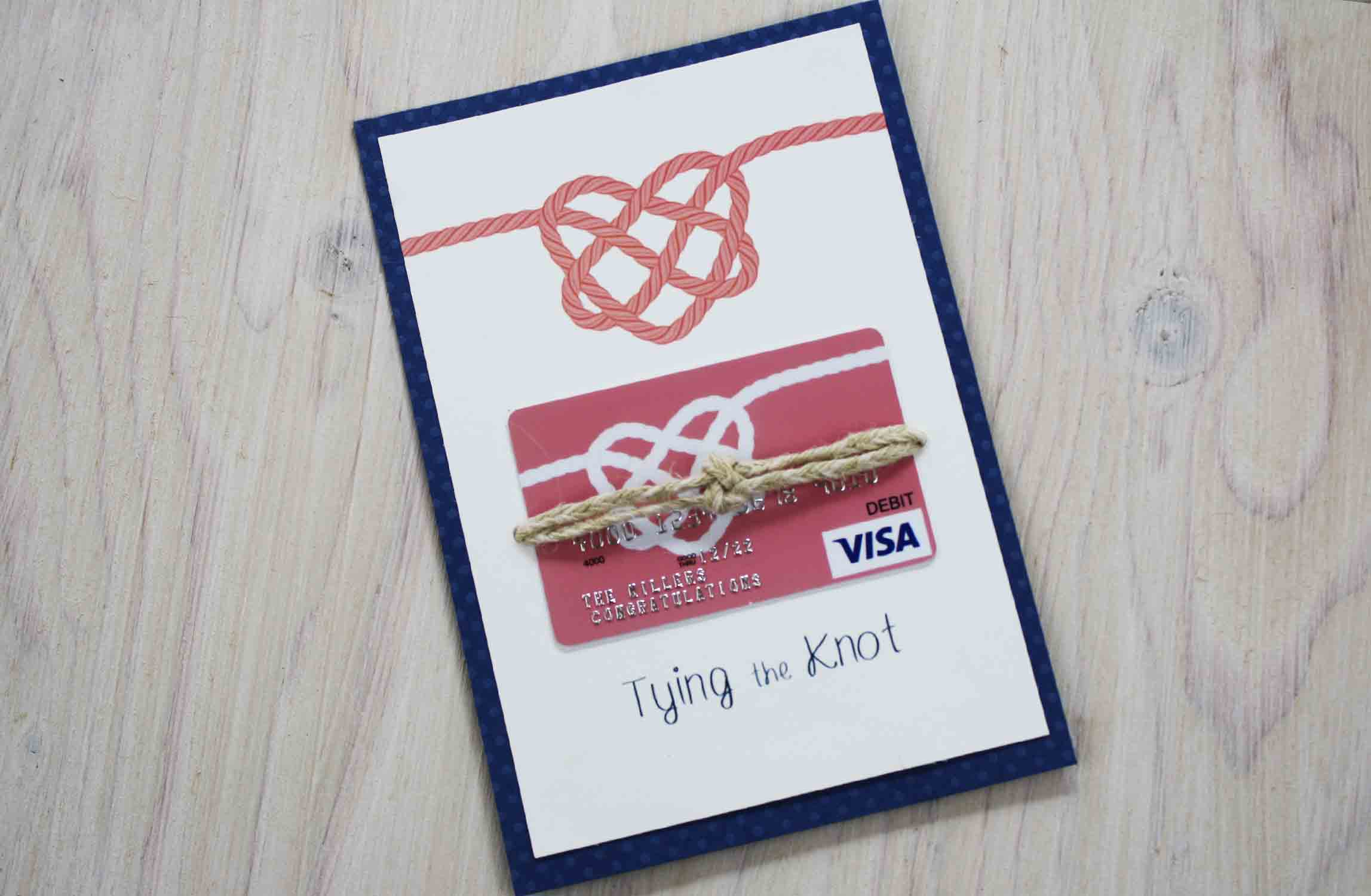 Tying the Knot flat gift card holder
