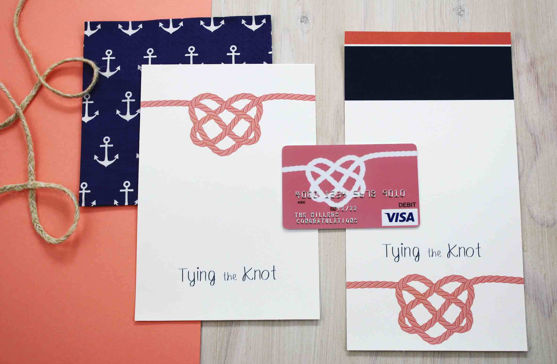 How to make the Tying the Knot gift card holder
