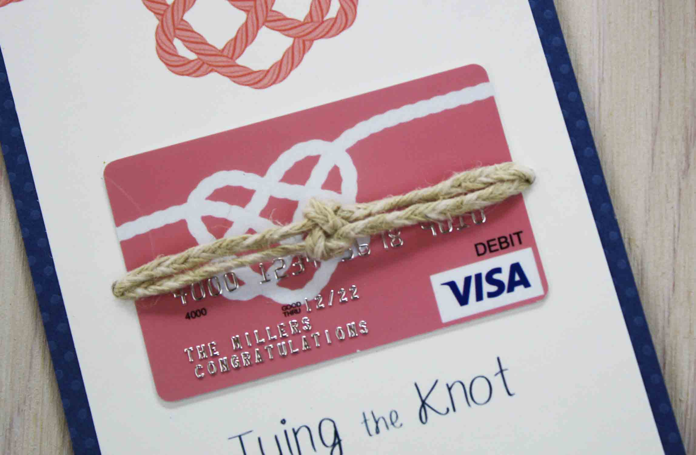 Tying the Knot Visa gift card