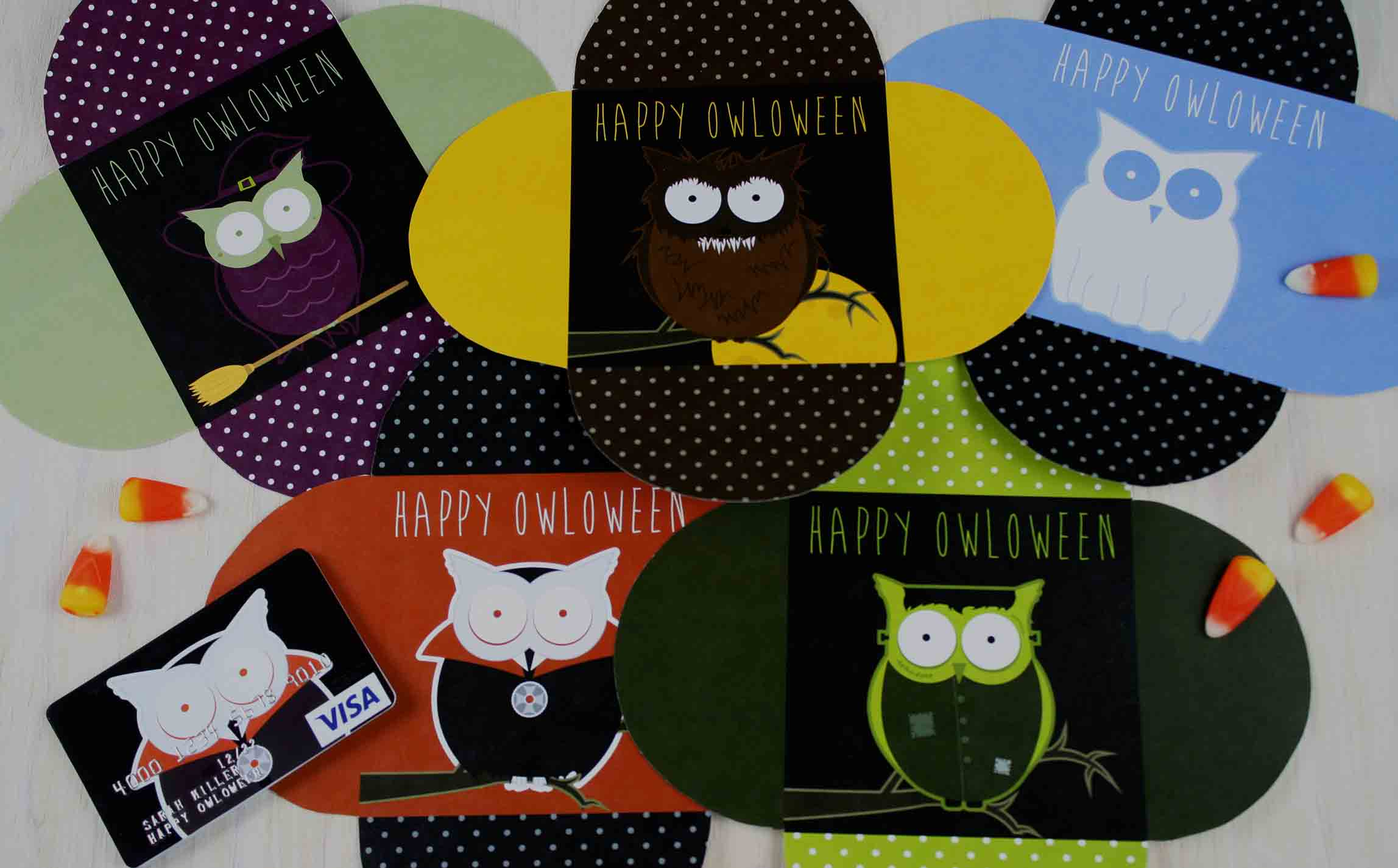 Happy OWLoween cards ready to craft