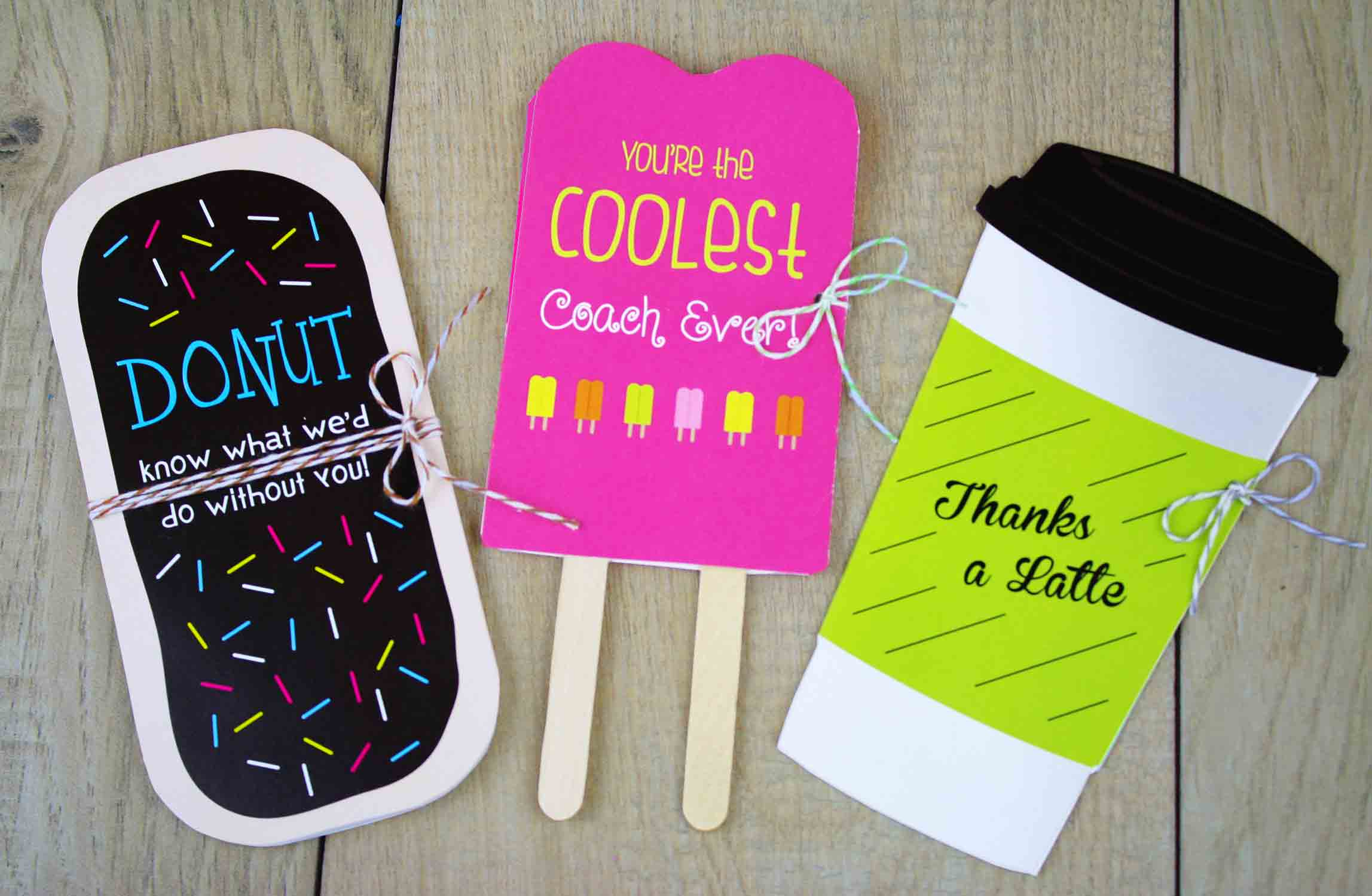 cut-out gift card holders