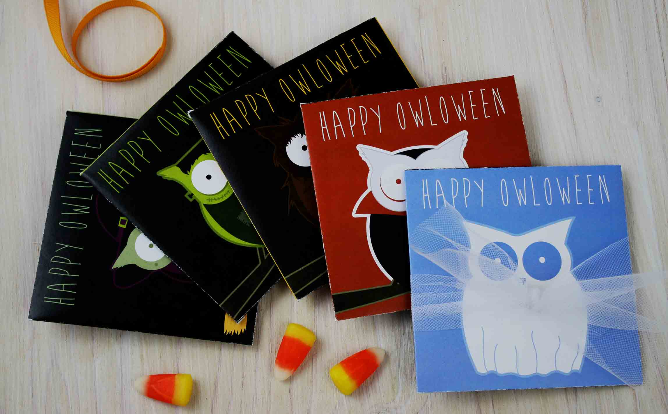 Happy OWLoween gift card holders