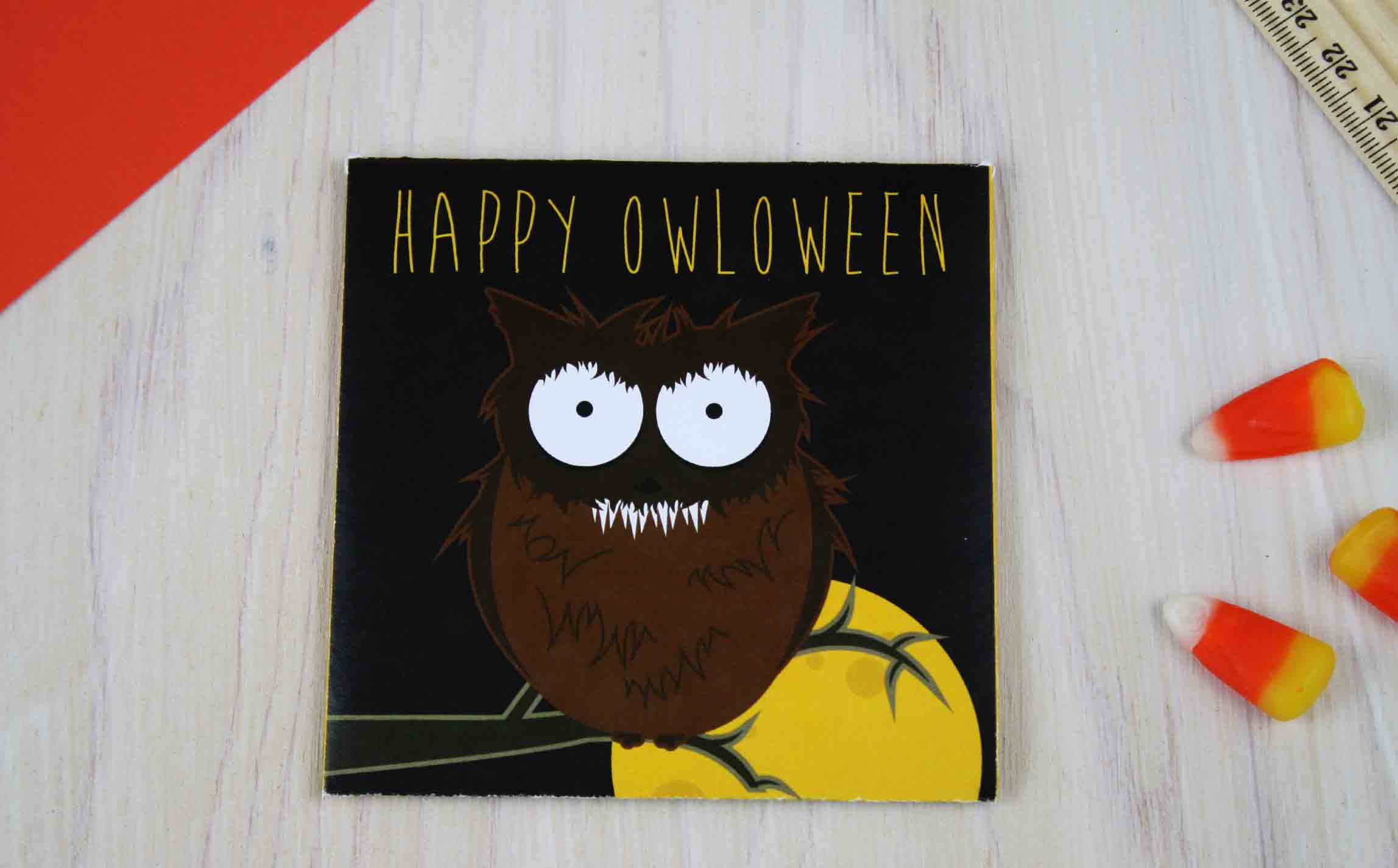 Happy OWLoween Werewolf card finished