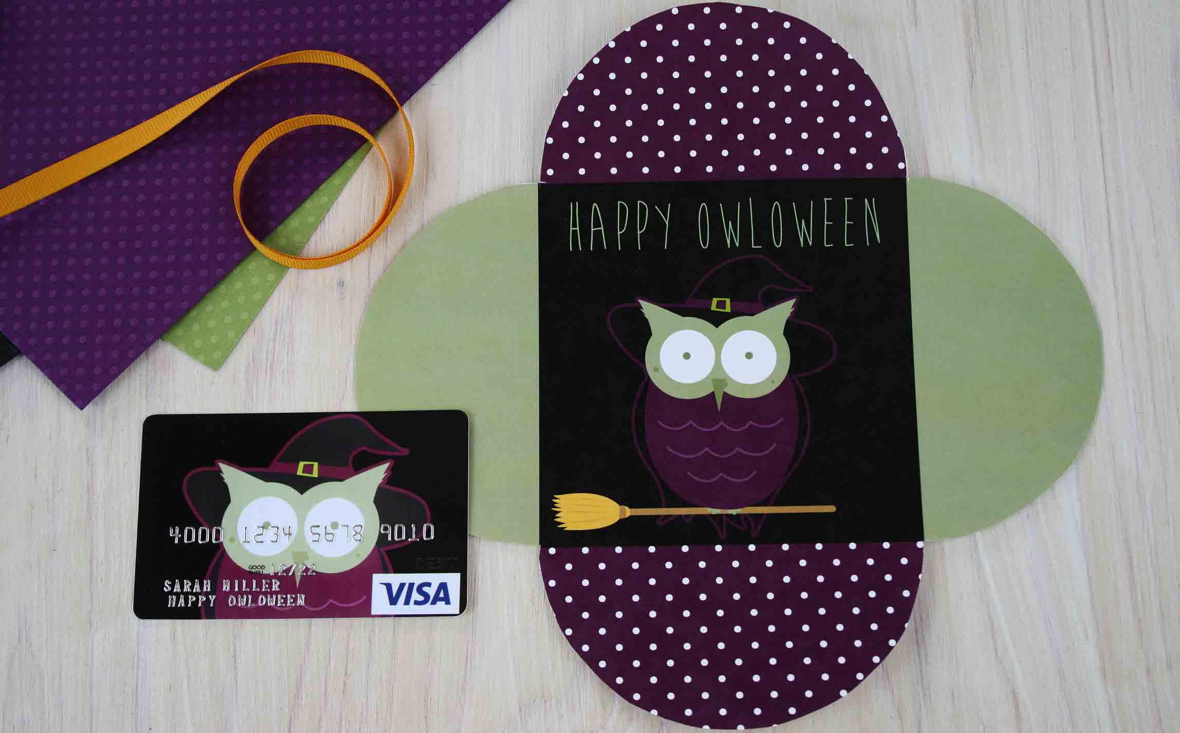 Happy OWLoween Witch card open