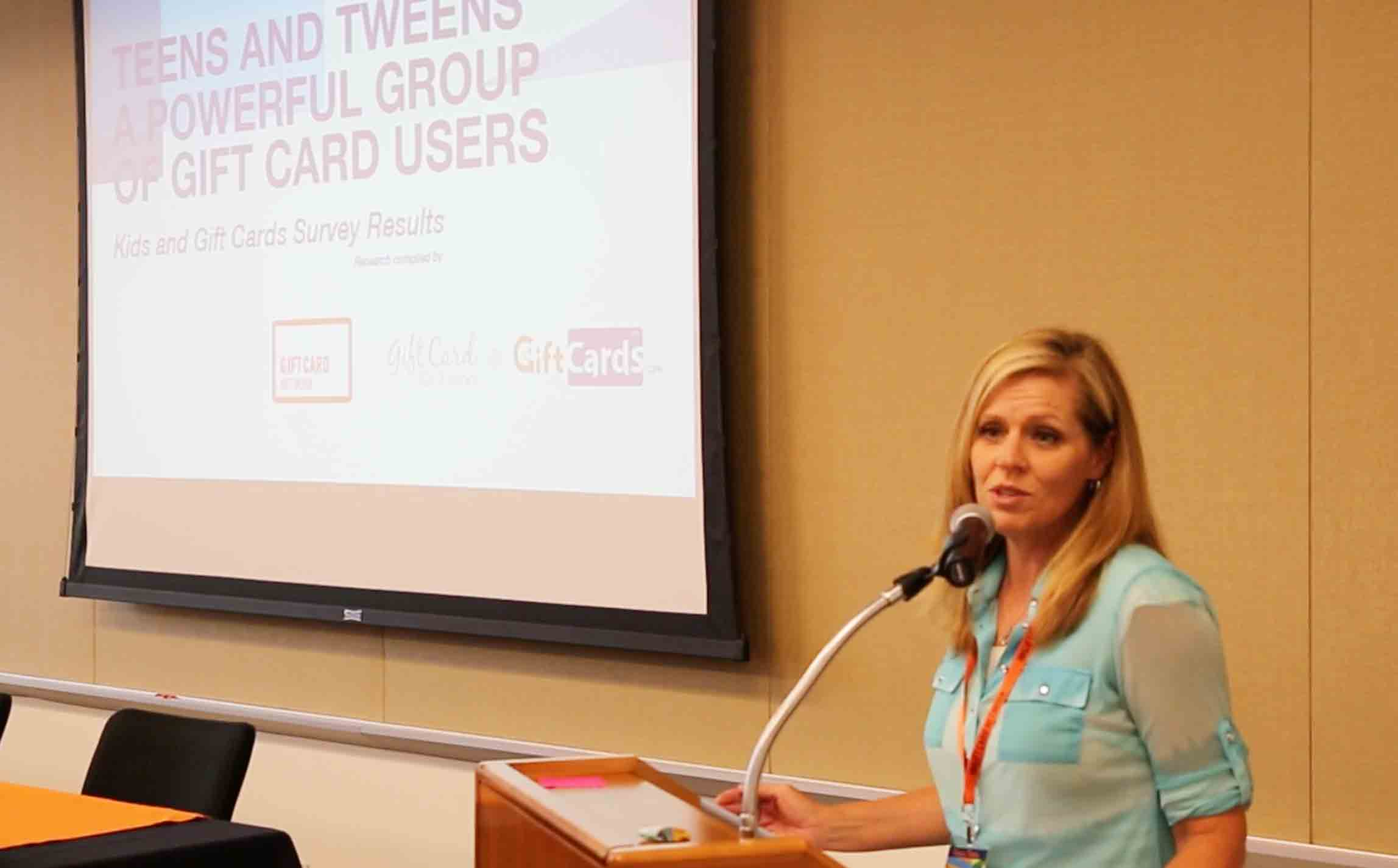 shelley presenting at Gift Card Network Summit