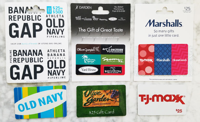 exchangeable gift card brands