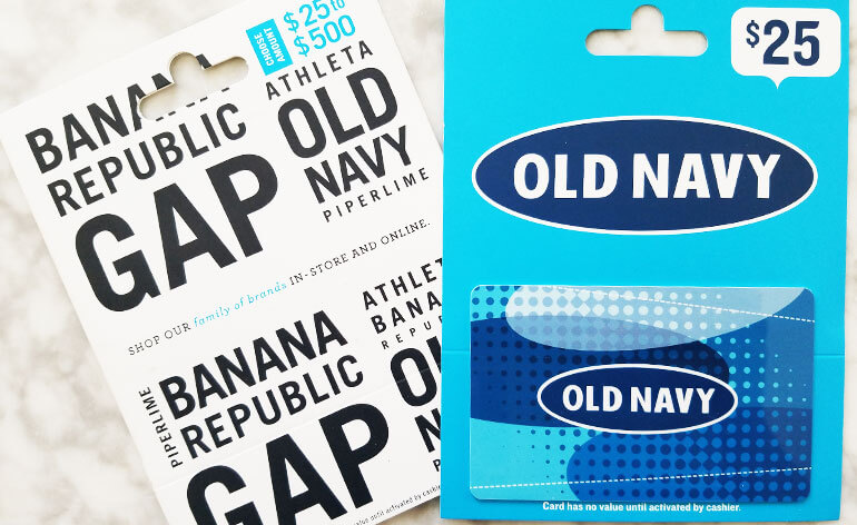 old navy and gap brand gift cards