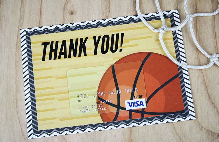 thank you gift card with visa<sup>&reg;</sup> attached
