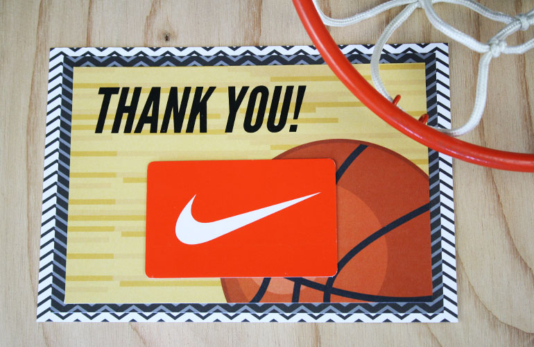 thank you coach gift card holder with Nike card