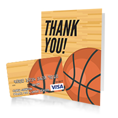 Basketball gift card and greeting card