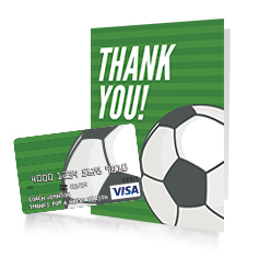 Soccer gift card for coach