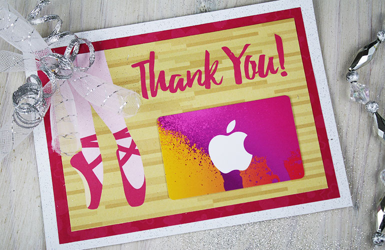 apple gift card for teacher