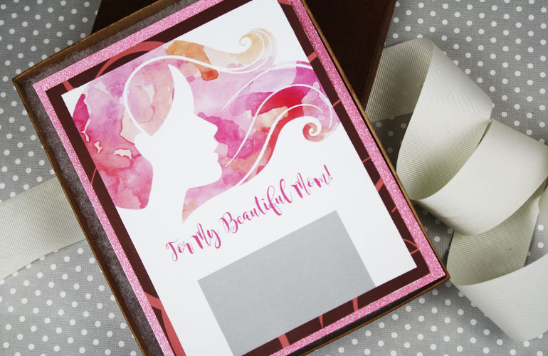 beautiful gift card holder