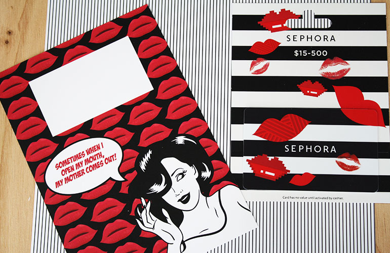 the perfect gift card holder for a sephora gift card