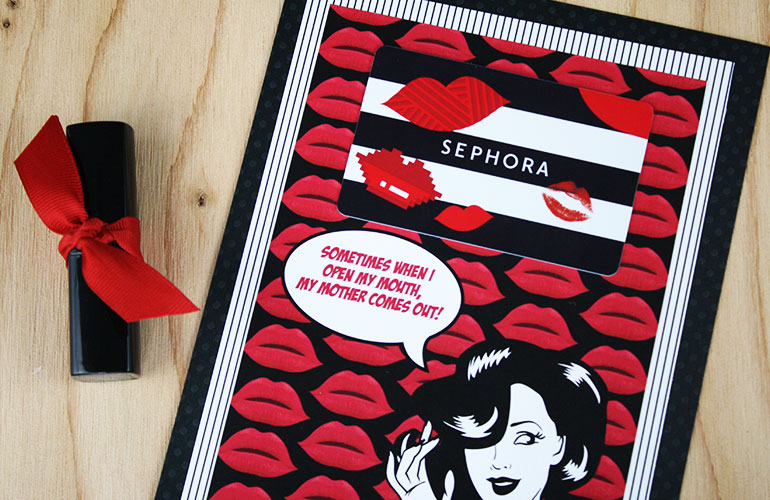 picture regarding Sephora Printable Gift Card identified as Absolutely free Printable Amusing Present for Moms Working day GCG