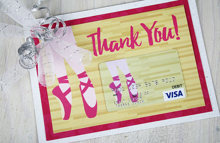 Visa<sup>&reg;</sup> gift card for teacher
