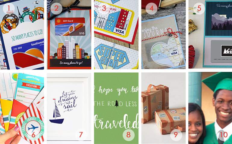 10 travel-themed graduation gift cards