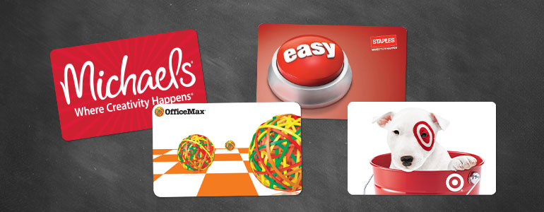 gift cards for kindergarten kids