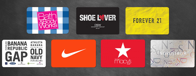 gift cards for middle school
