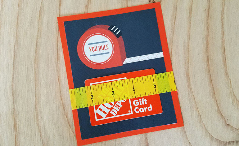 The Home Depot Gift Card On Holder