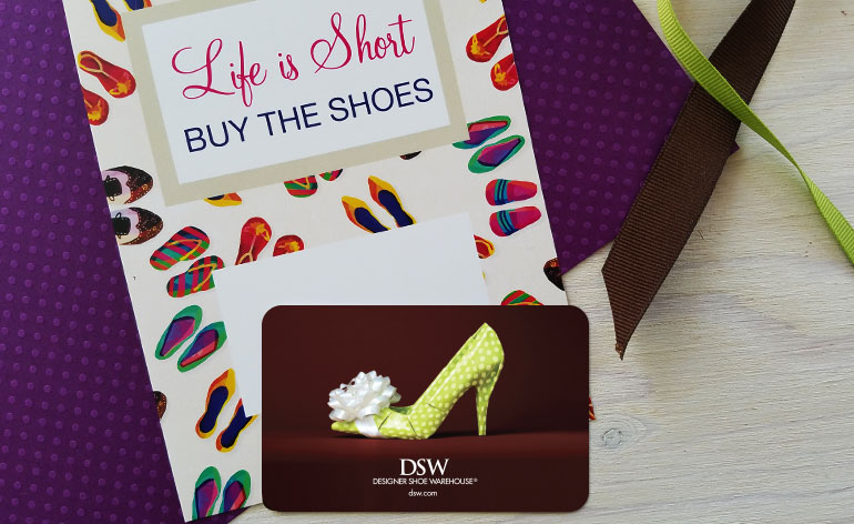 printable for shoe store gift card