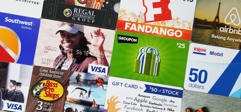 gift cards that create memories