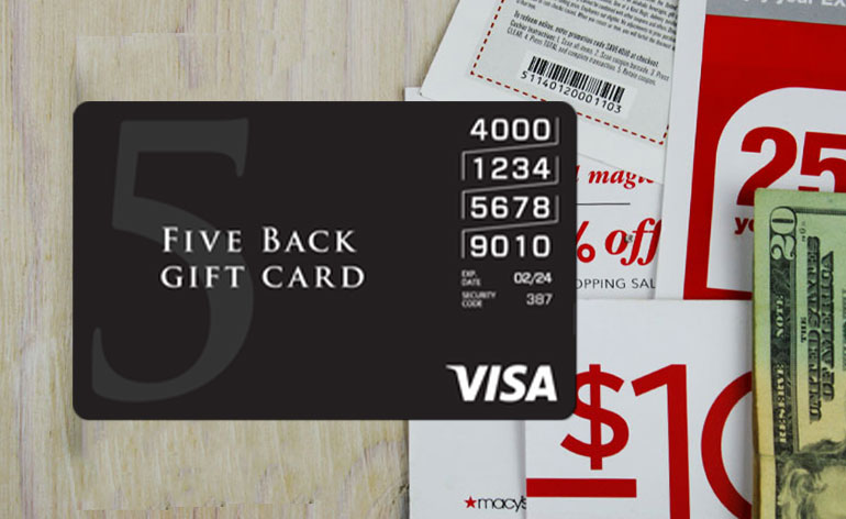 five back visa card - Custom Visa Debit Card