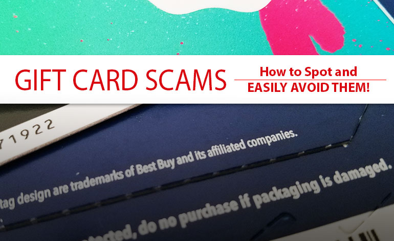 7 Gift Card SCAMS you can SPOT and EASILY AVOID!  b5870eb3a
