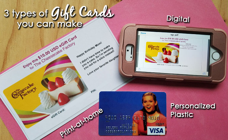 3 gift cards - Make Your Own Gift Card