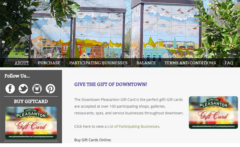 gift card to downtown association