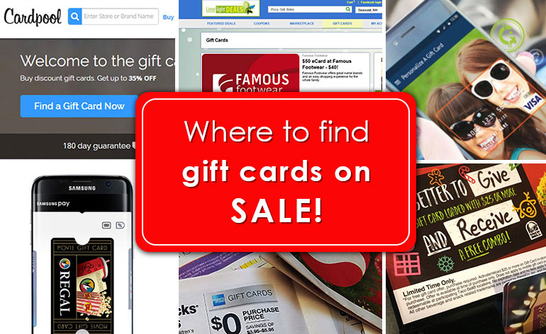 where to find a sale on gift cards