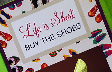buy the shoes gift card holder