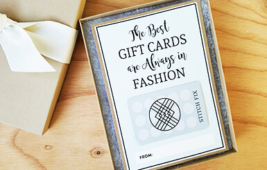 Fashion gift card holder