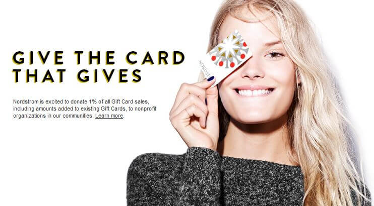 Nordstrom charity gift card