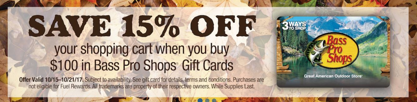 bass pro shops gift card on sale