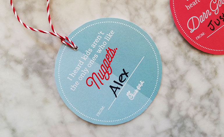 chick fil a gift card tag