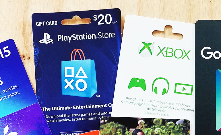 playstation and xbox gift cards