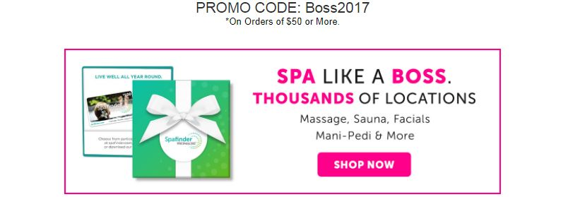 Boss Day discount on Spafinder