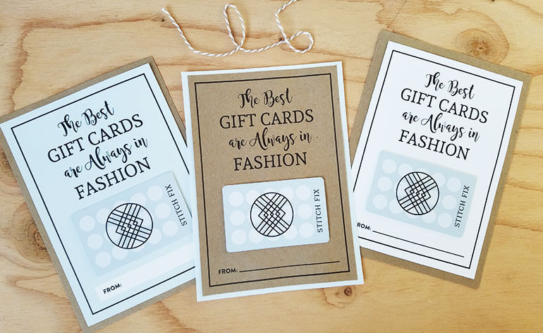 three styles of stitch fix gift card holders