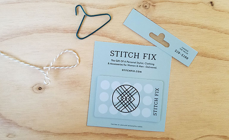 how to put stitch fix gift card in box