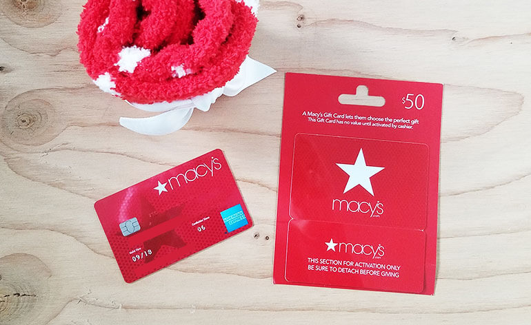 macys gift card with a macys credit card