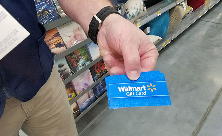 Walmart gift card in store